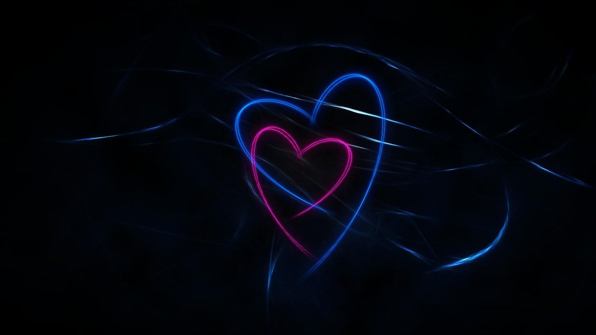 Love Dark Desktop Wallpaper