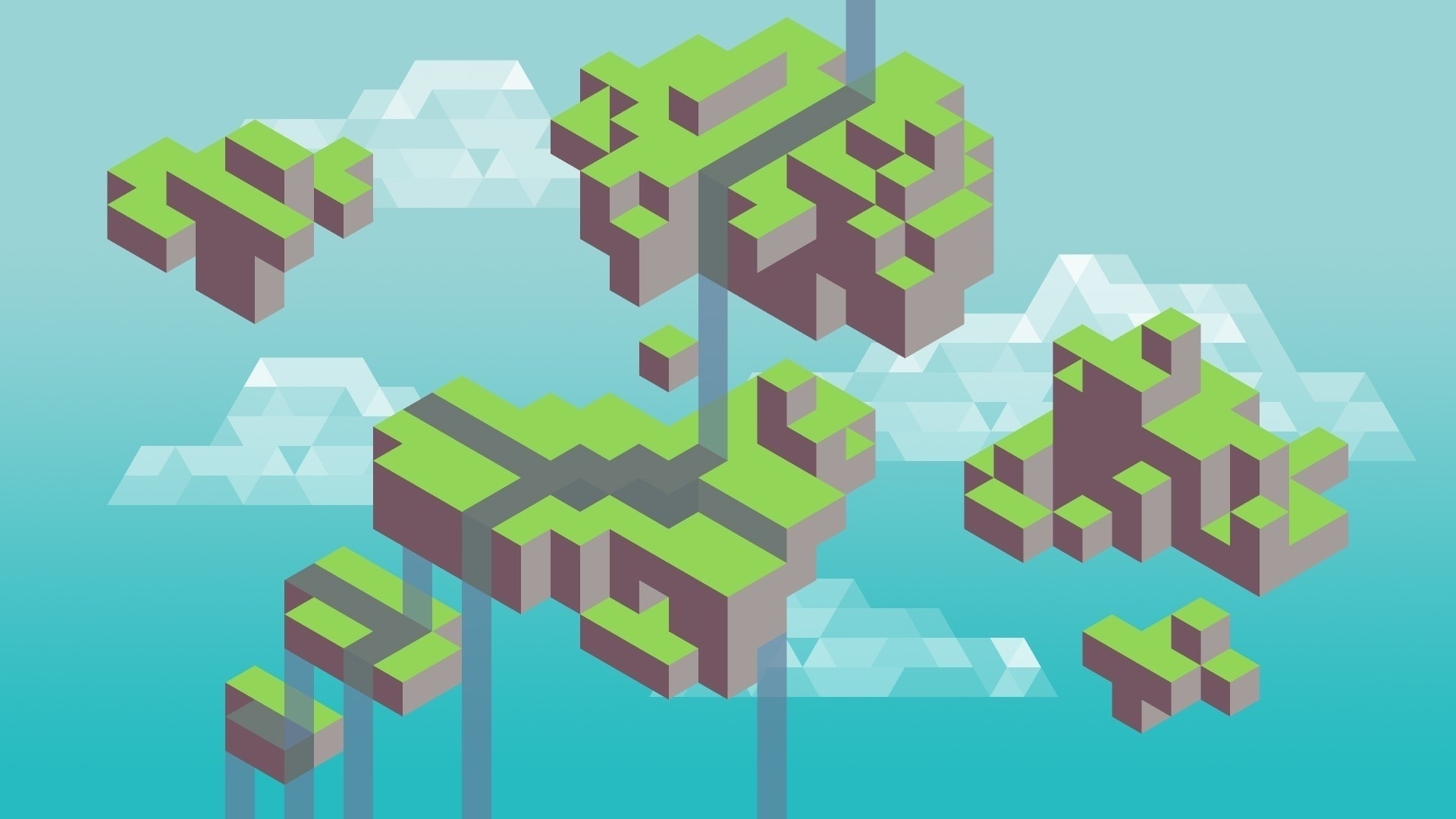 Minecraft Minimalist HD Wallpaper