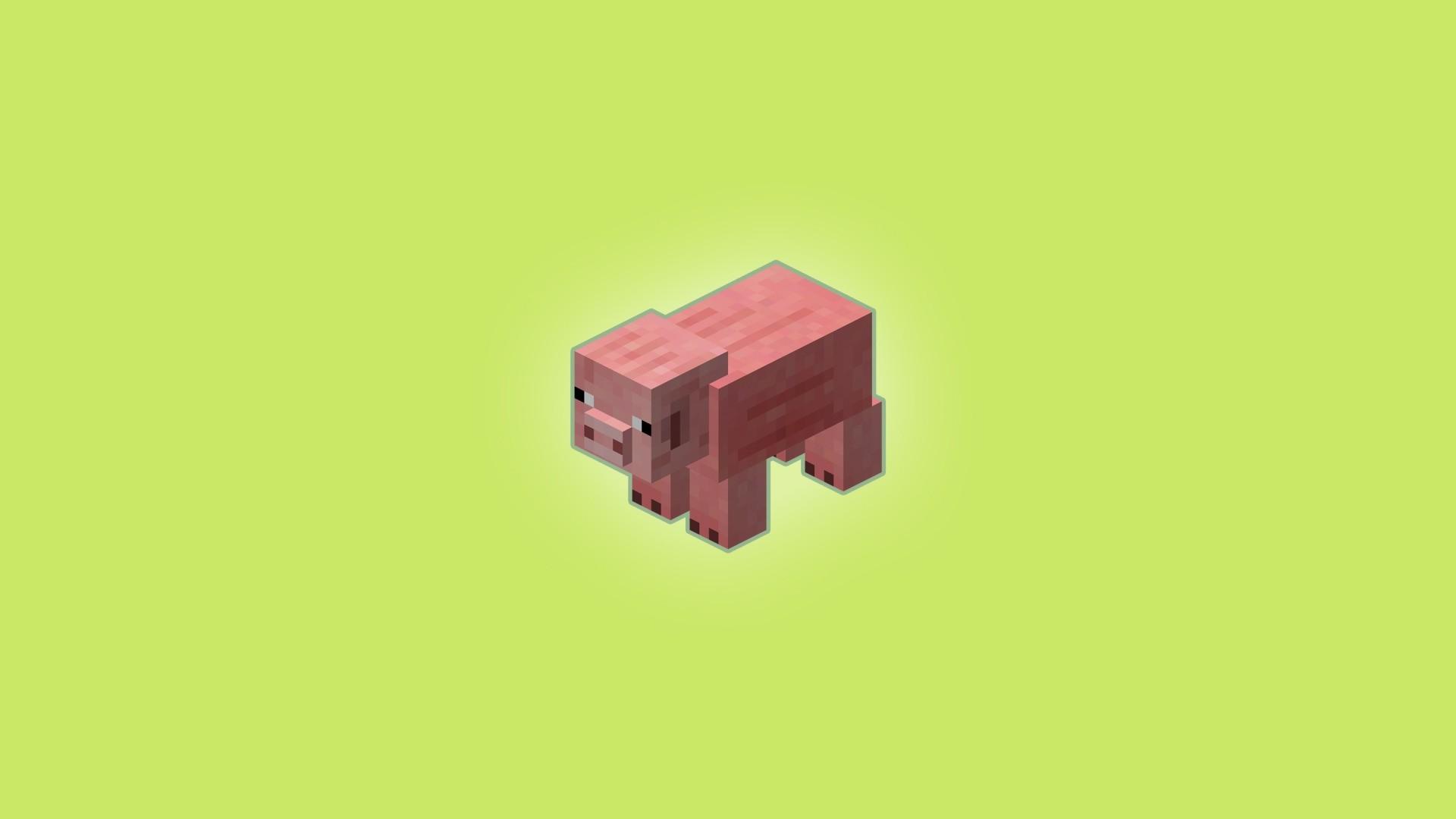 Minecraft Minimalist computer wallpaper