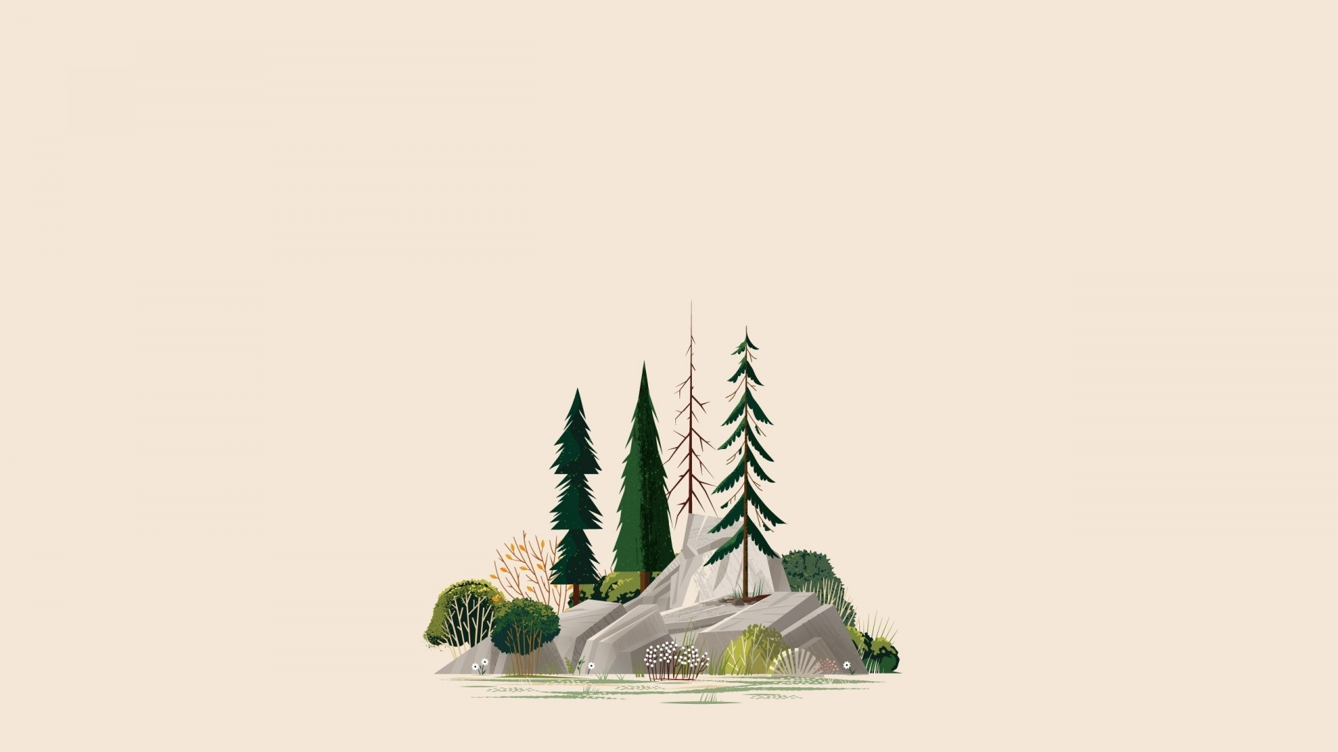 Nature Minimalist Style computer wallpaper