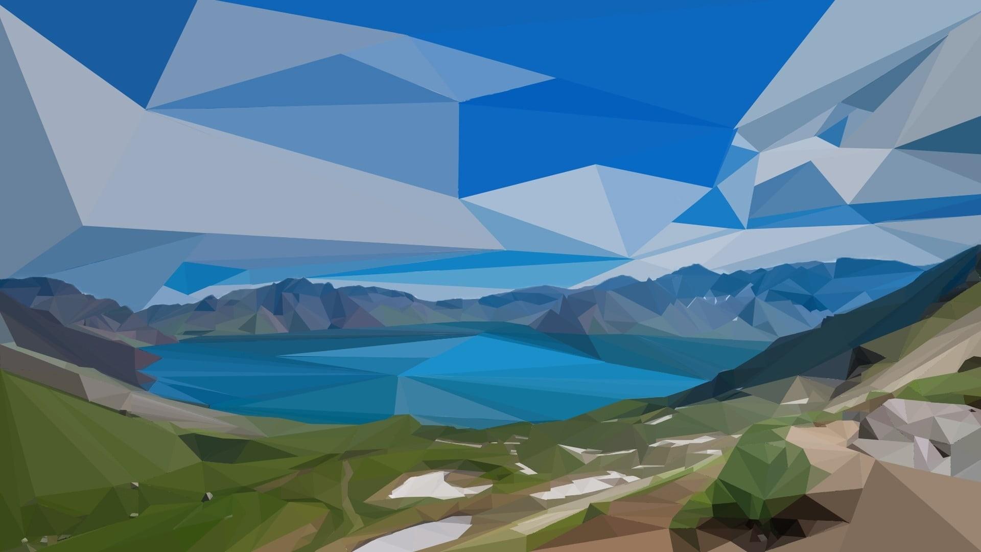 Nature Minimalist Style Desktop Wallpaper