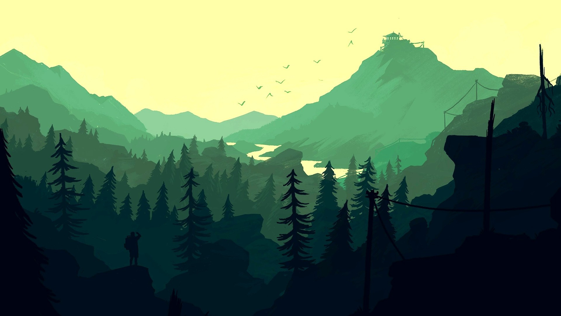 Nature Minimalist Style wallpaper for desktop