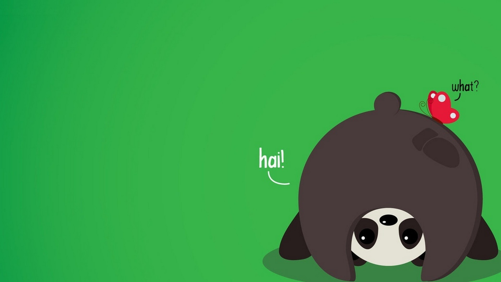 Panda Minimalist wallpaper for pc