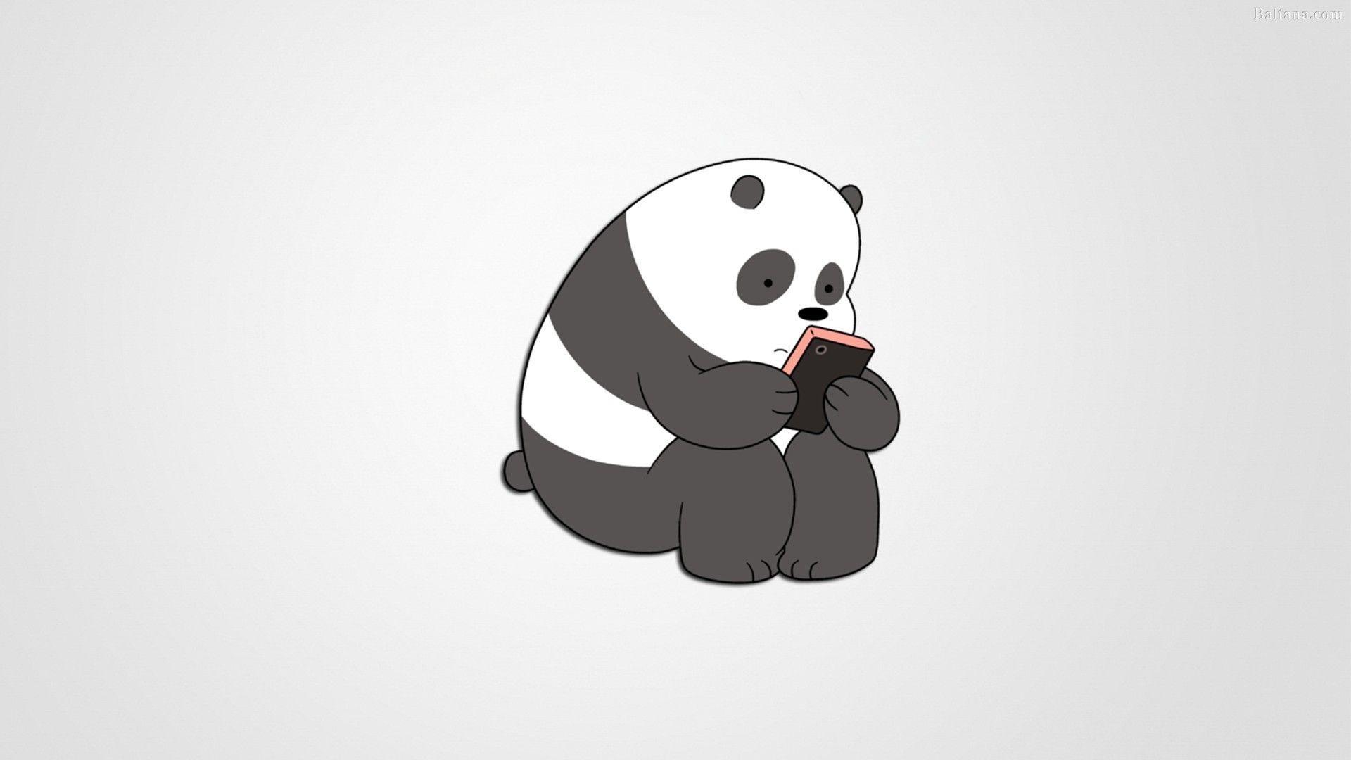 Panda Minimalist desktop wallpaper hd