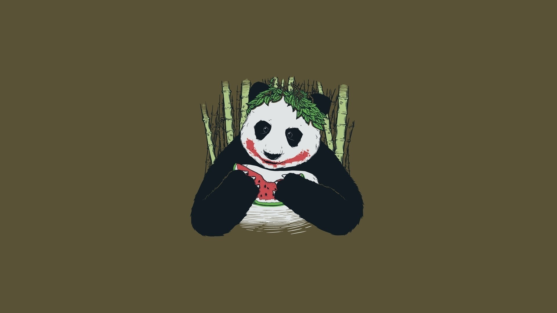 Panda Minimalist desktop wallpaper hd