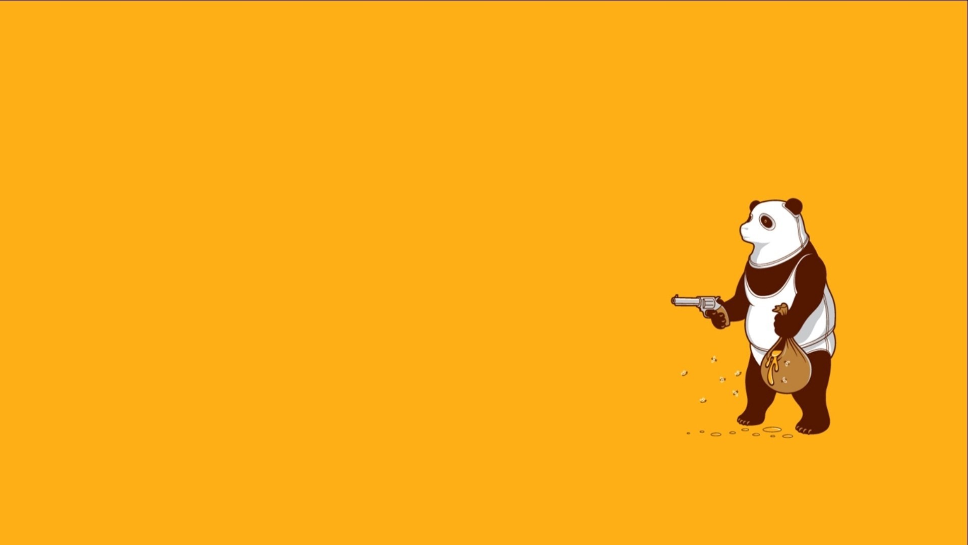 Panda Minimalist wallpaper photo hd