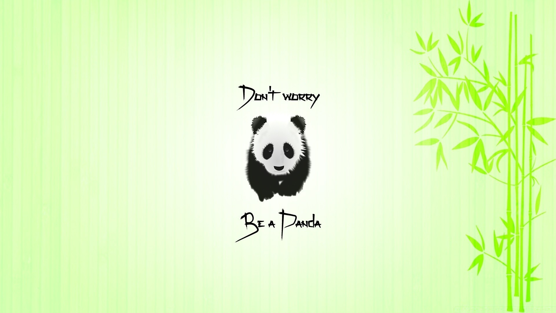 Panda Minimalist HD Wallpaper