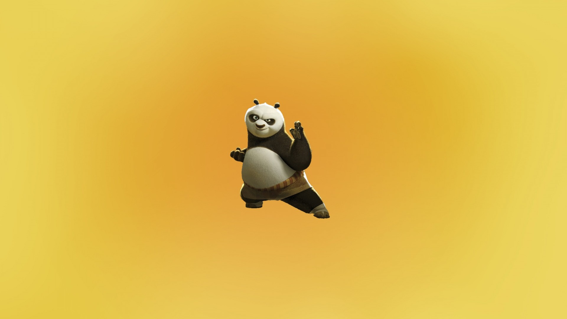 Panda Minimalist Desktop Wallpaper