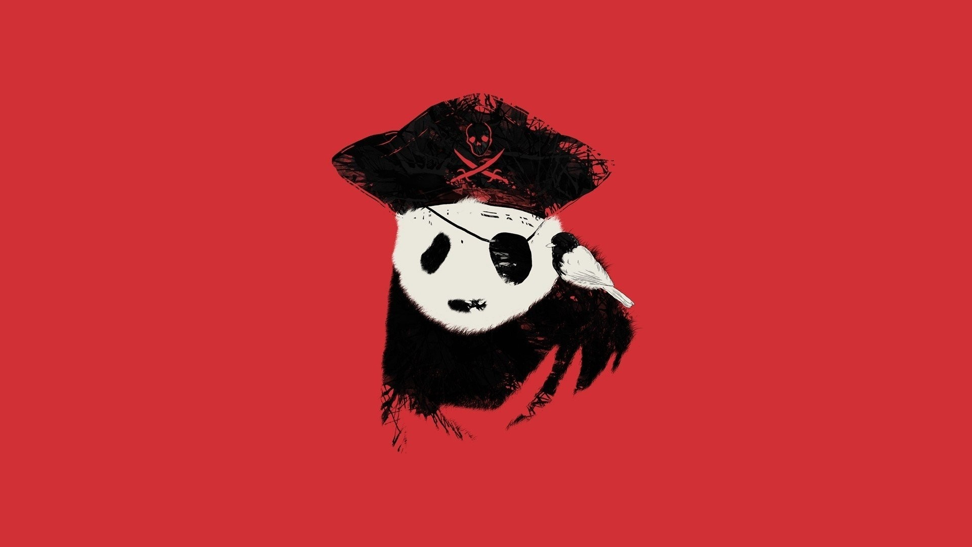 Panda Minimalist Wallpaper