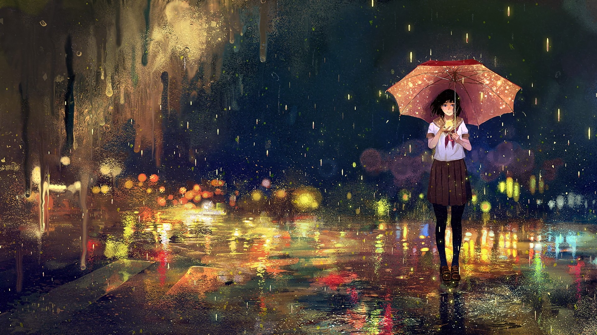 Rain Art Wallpaper