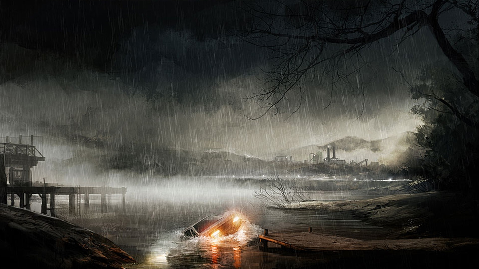Rain Art wallpaper for desktop
