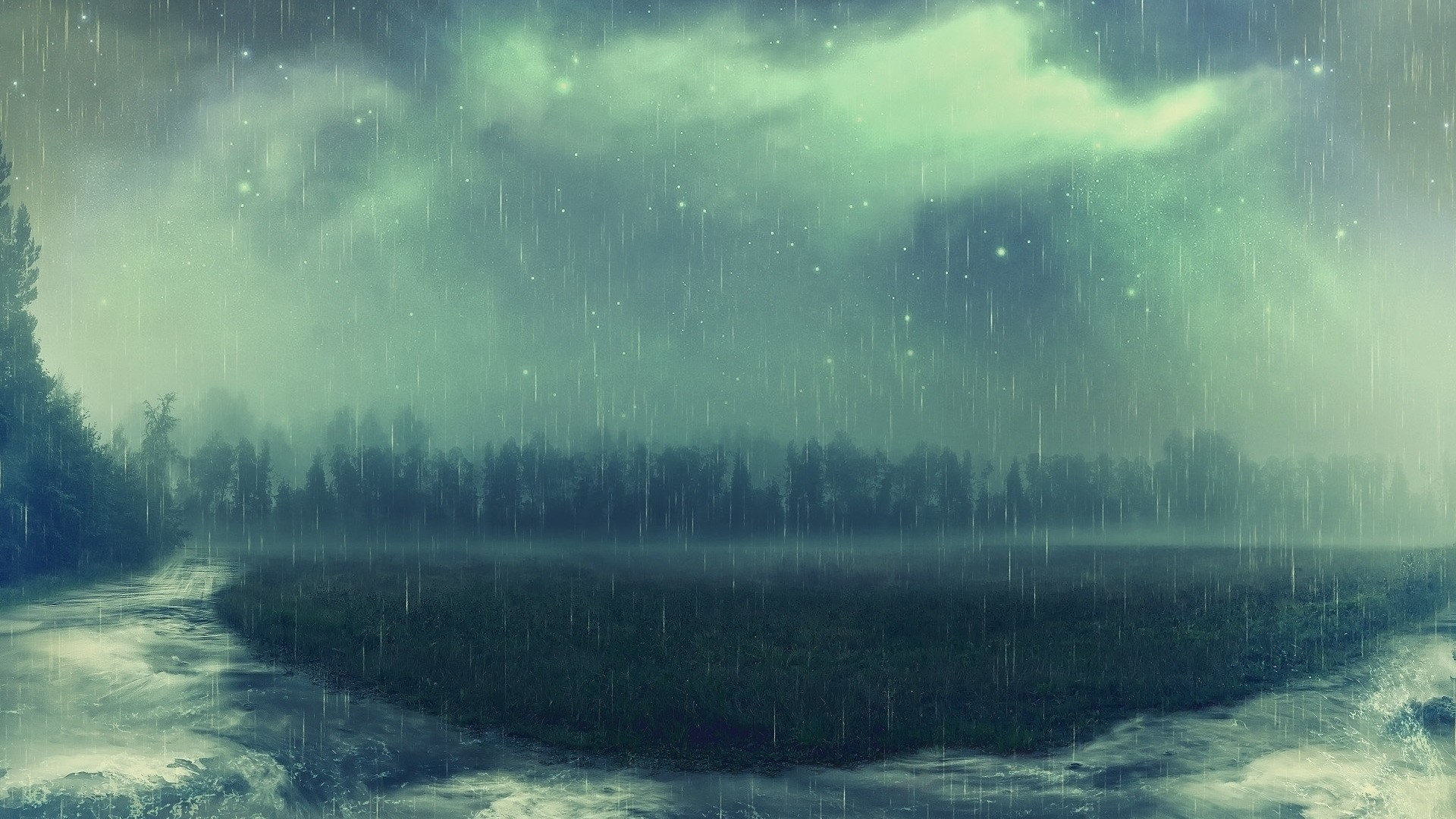 Rain Art desktop wallpaper hd