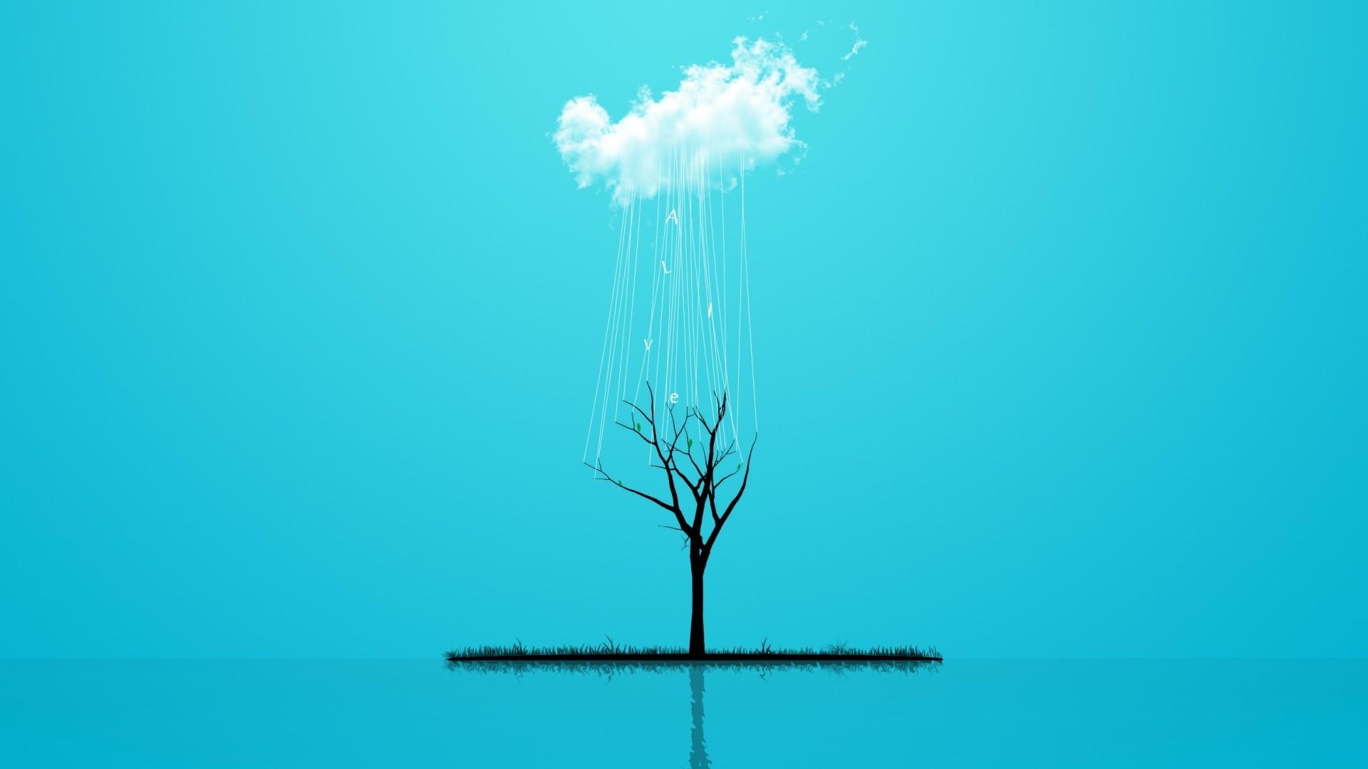 Rain Minimalist desktop wallpaper hd