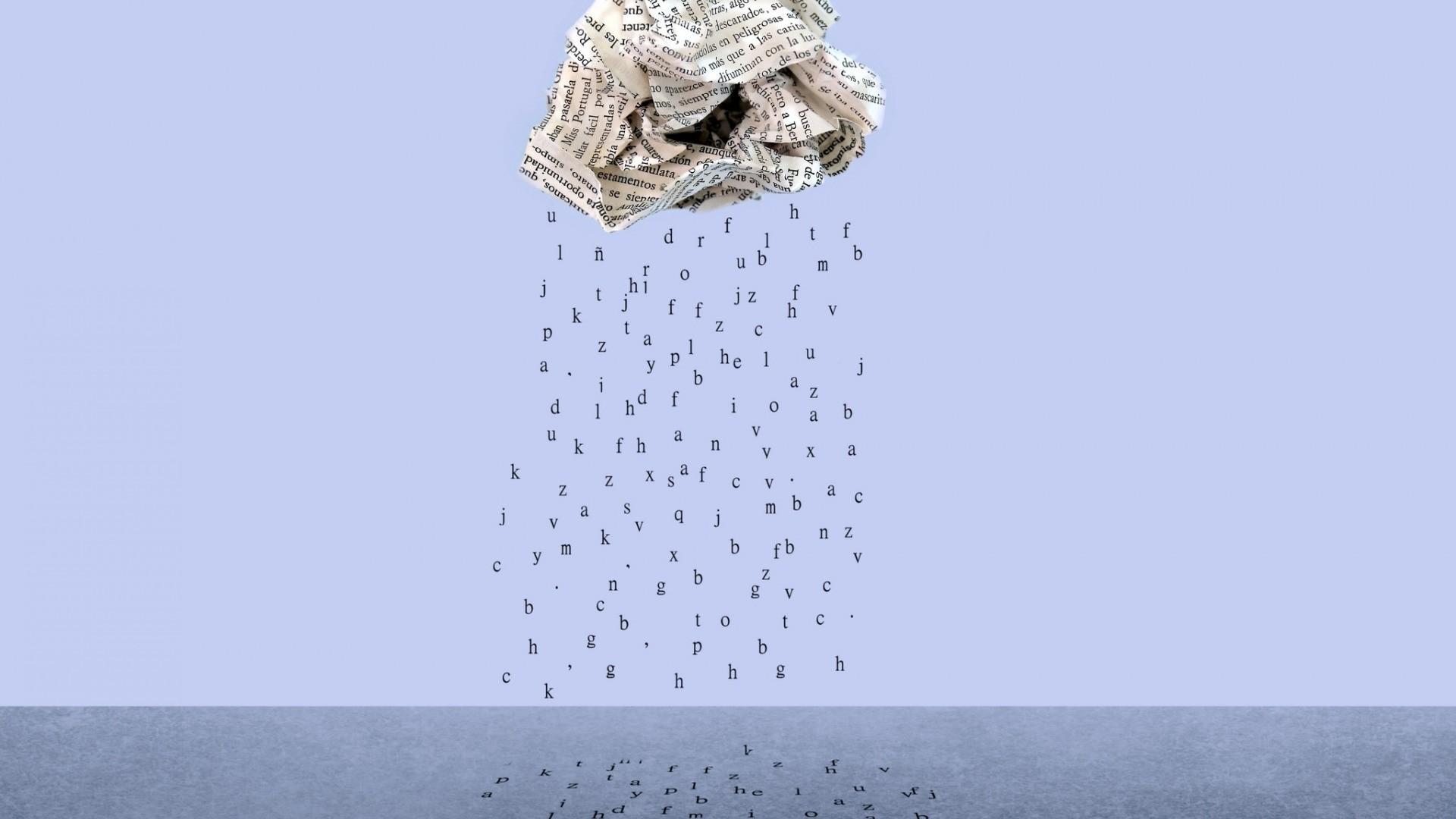 Rain Minimalist Wallpaper