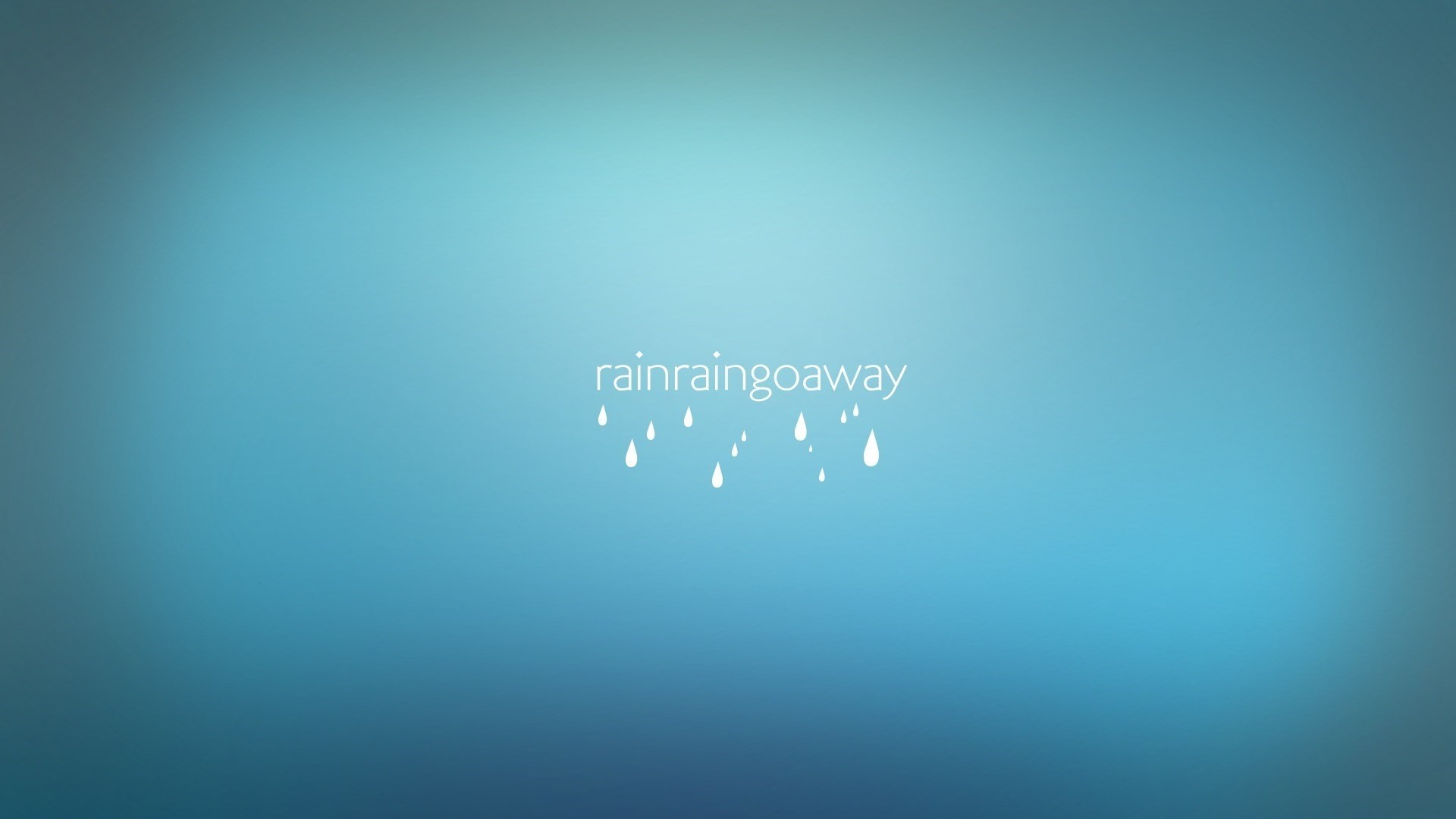 Rain Minimalist Picture