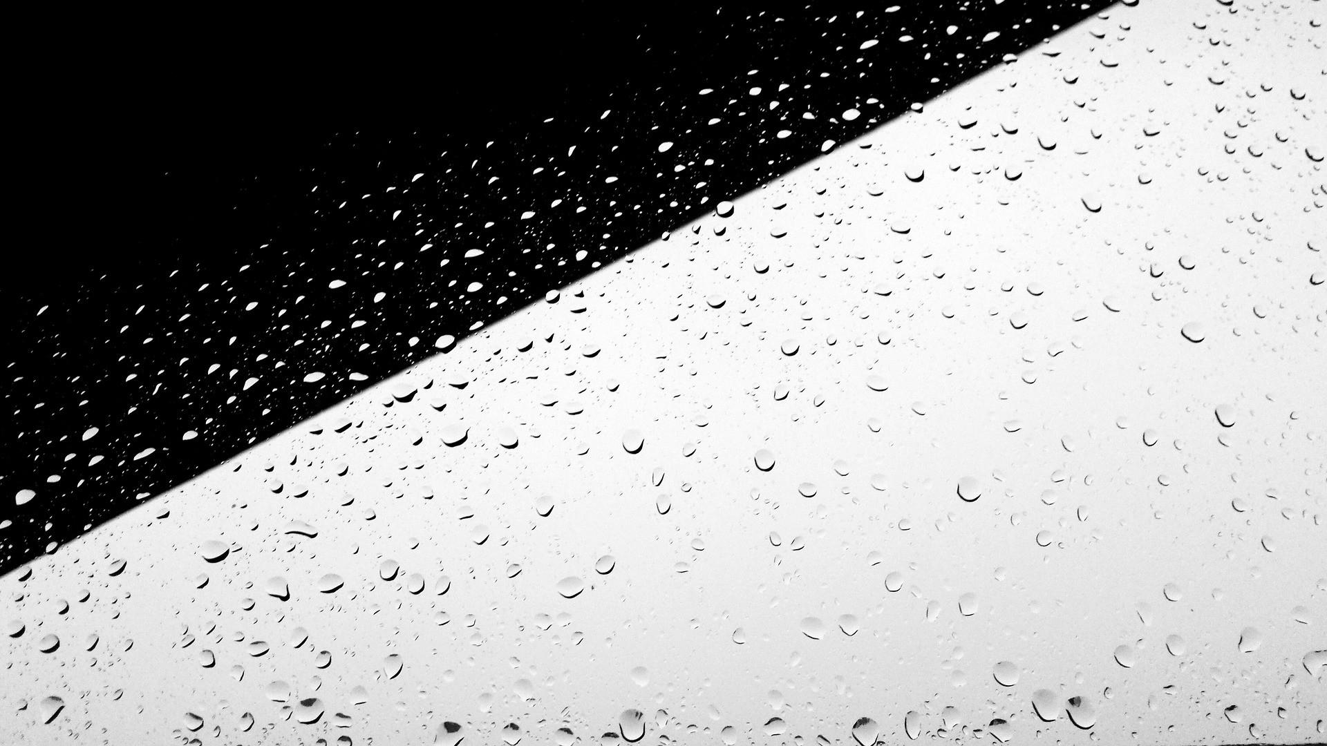 Rain Minimalist computer wallpaper