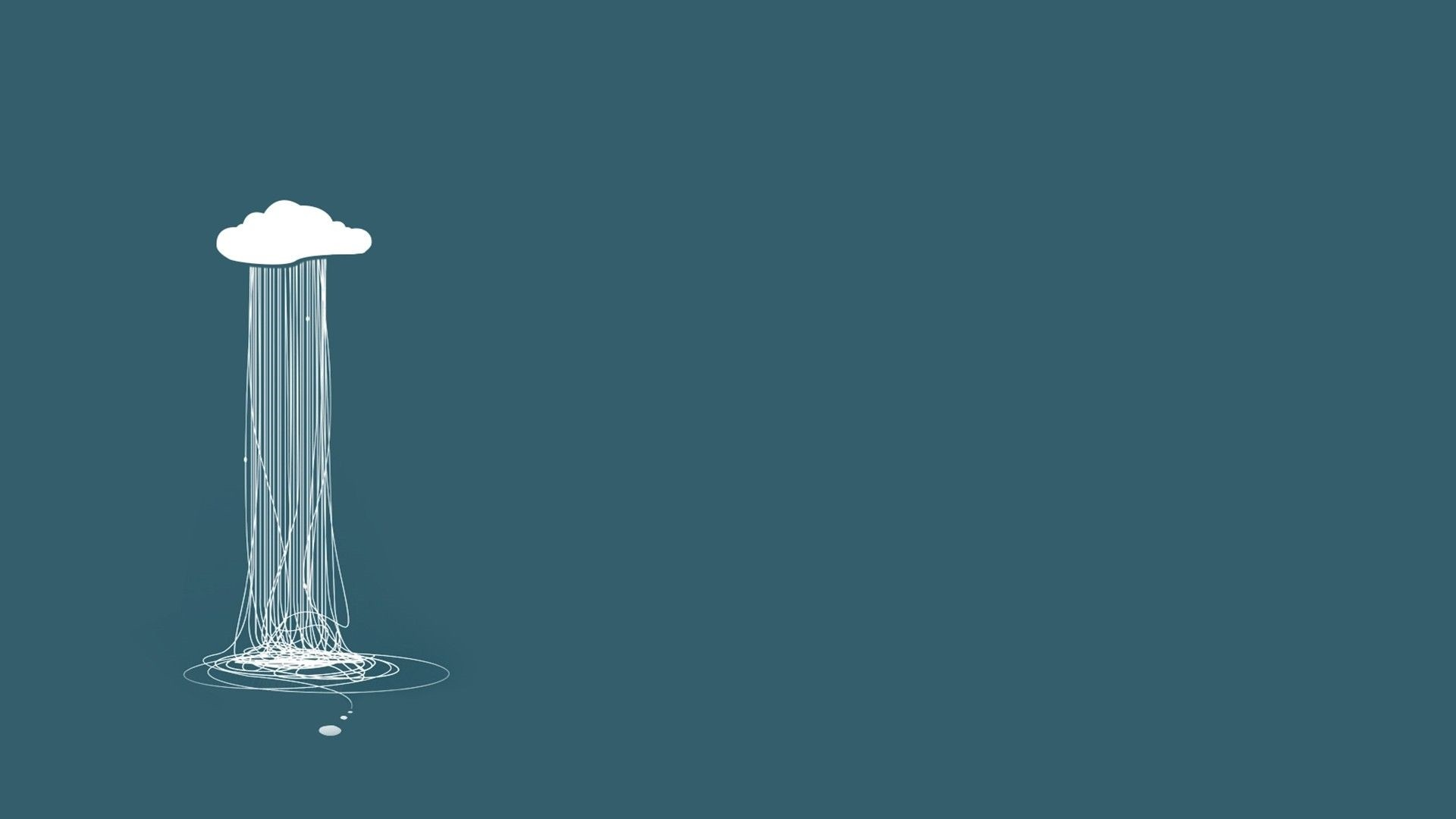 Rain Minimalist wallpaper for desktop