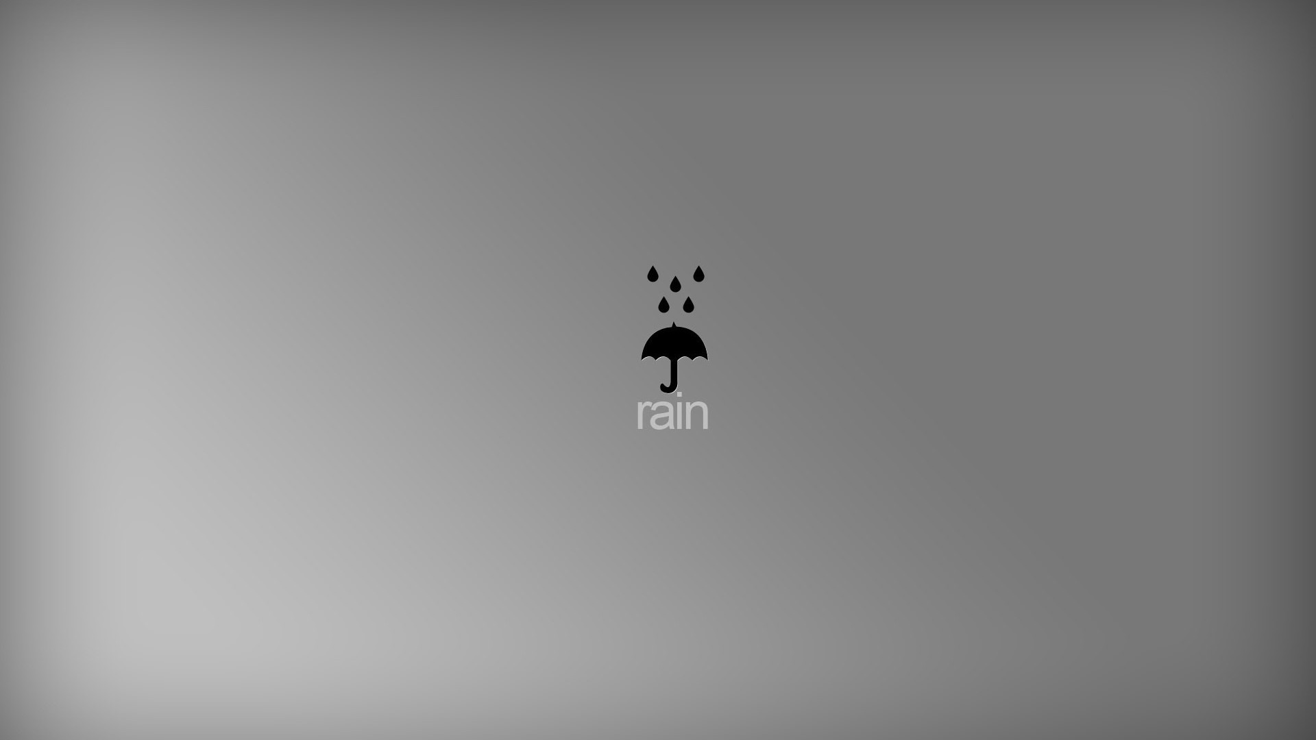 Rain Minimalist Background