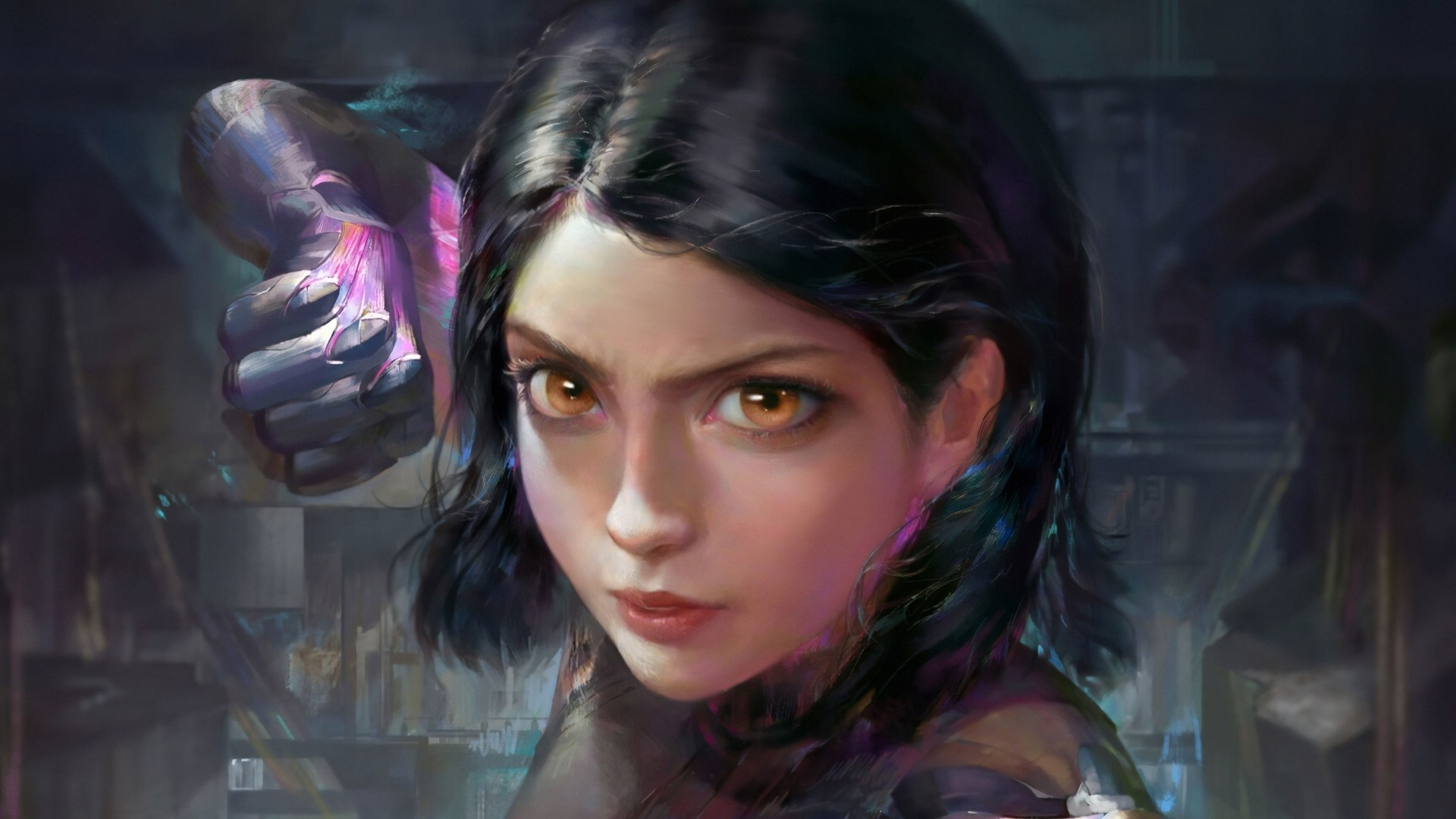 Alita Battle Angel desktop wallpaper hd