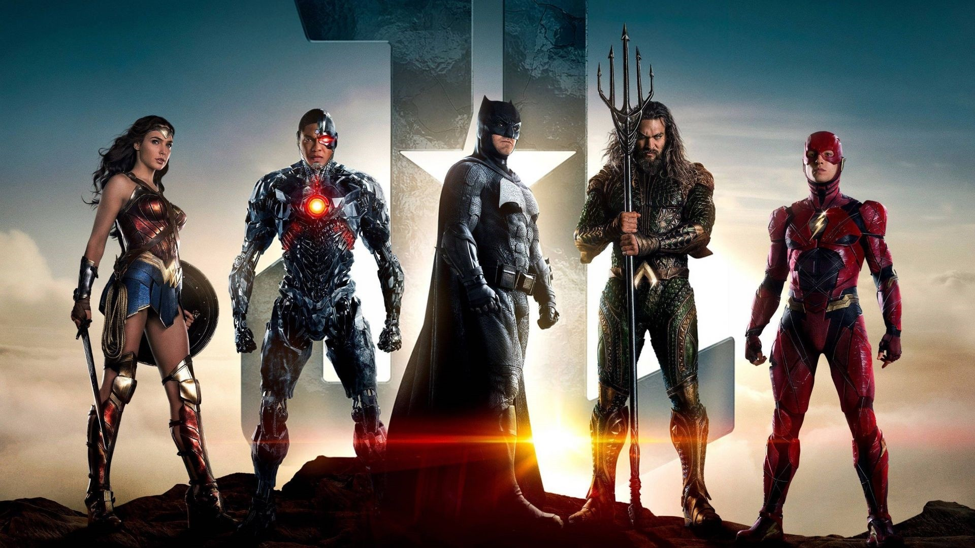 Justice League Poster Wallpaper theme