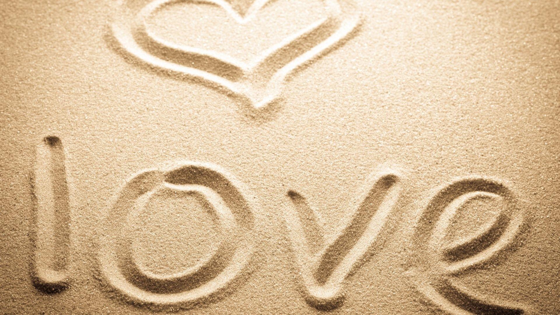 Sand Love Background