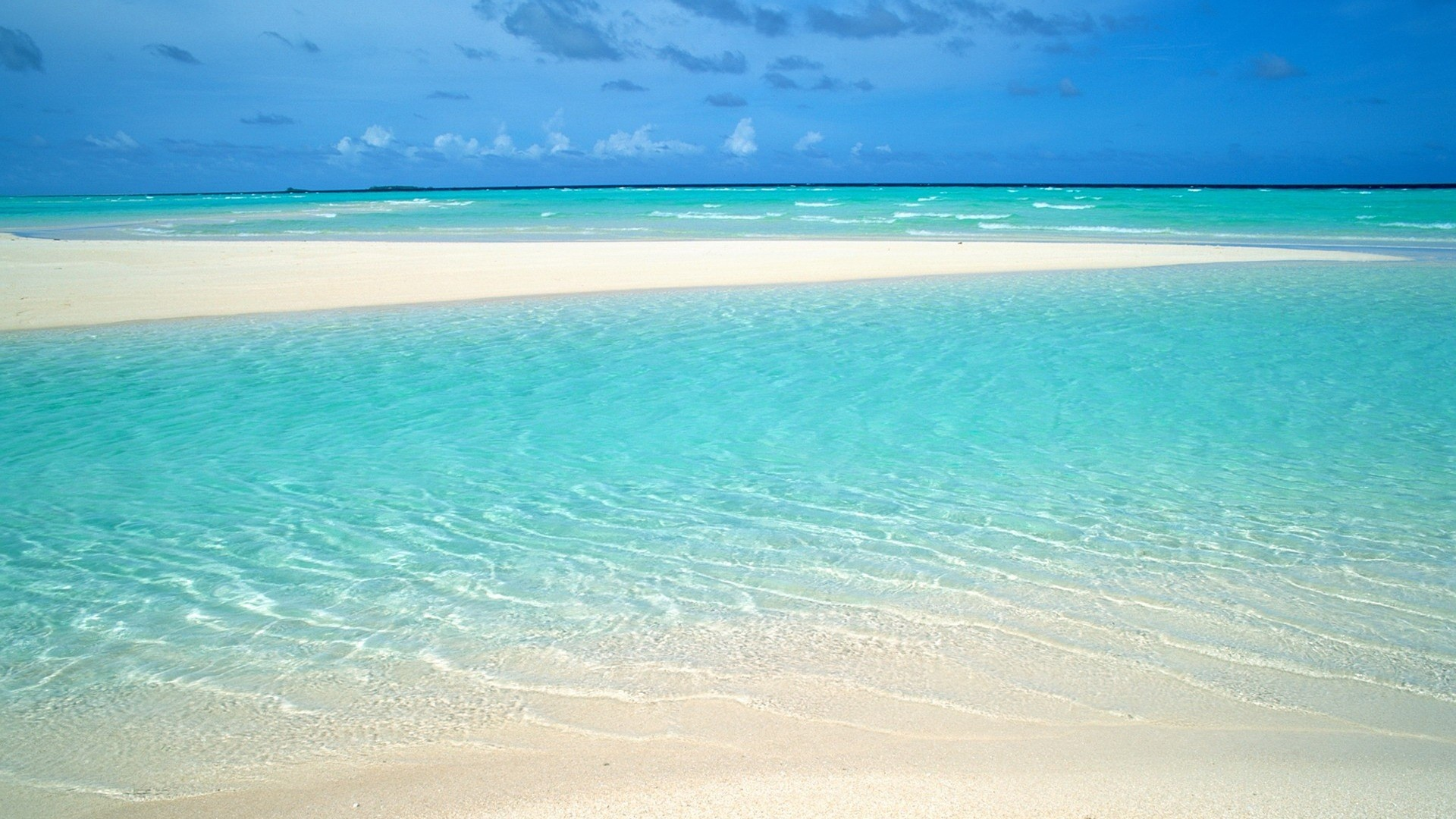 Sea White Sand computer wallpaper