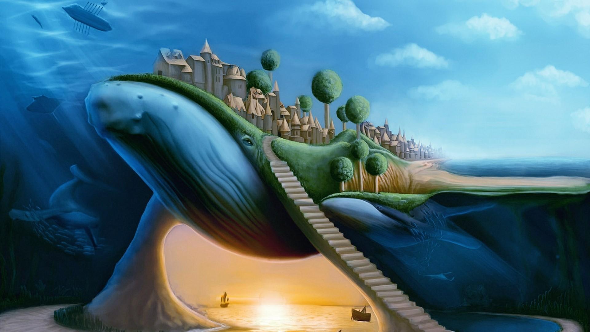 Surrealism Art Background