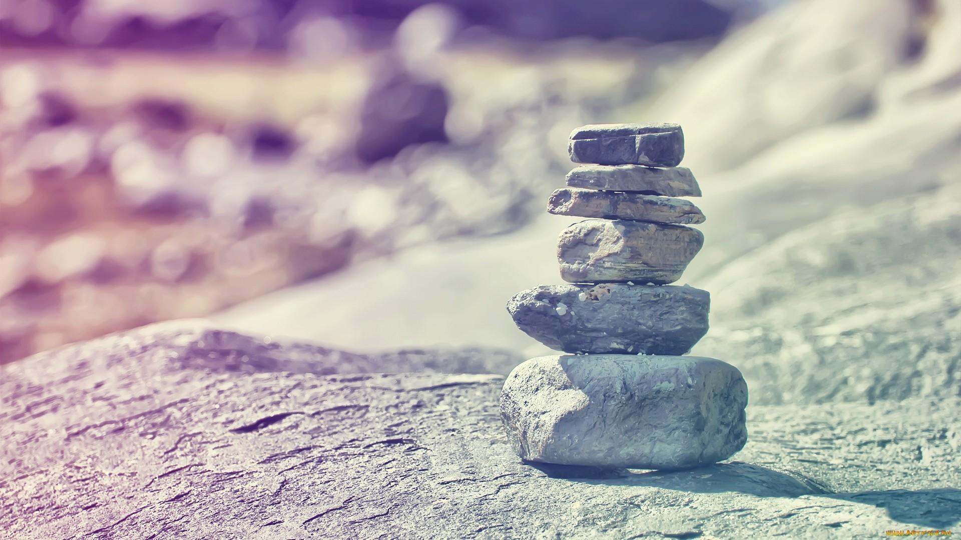 Zen Stone Pyramid Background