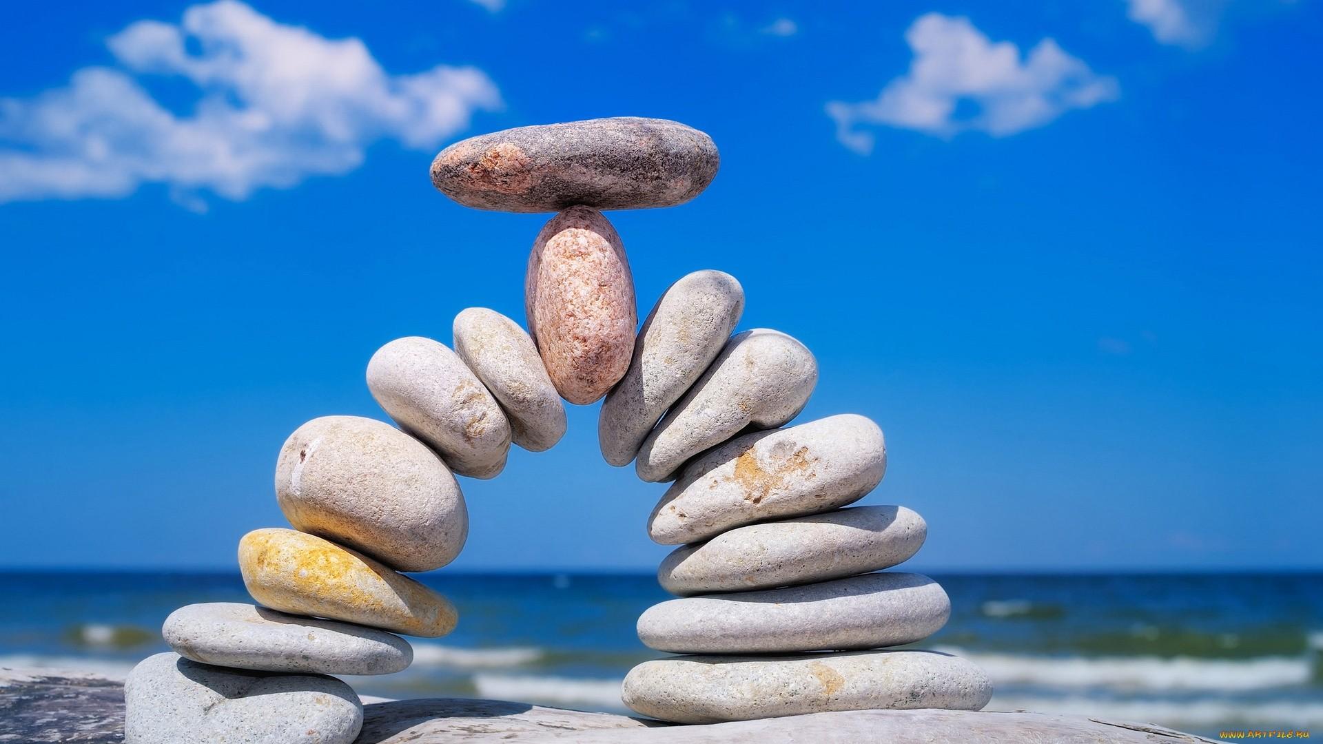 Zen Stone Pyramid wallpaper for desktop