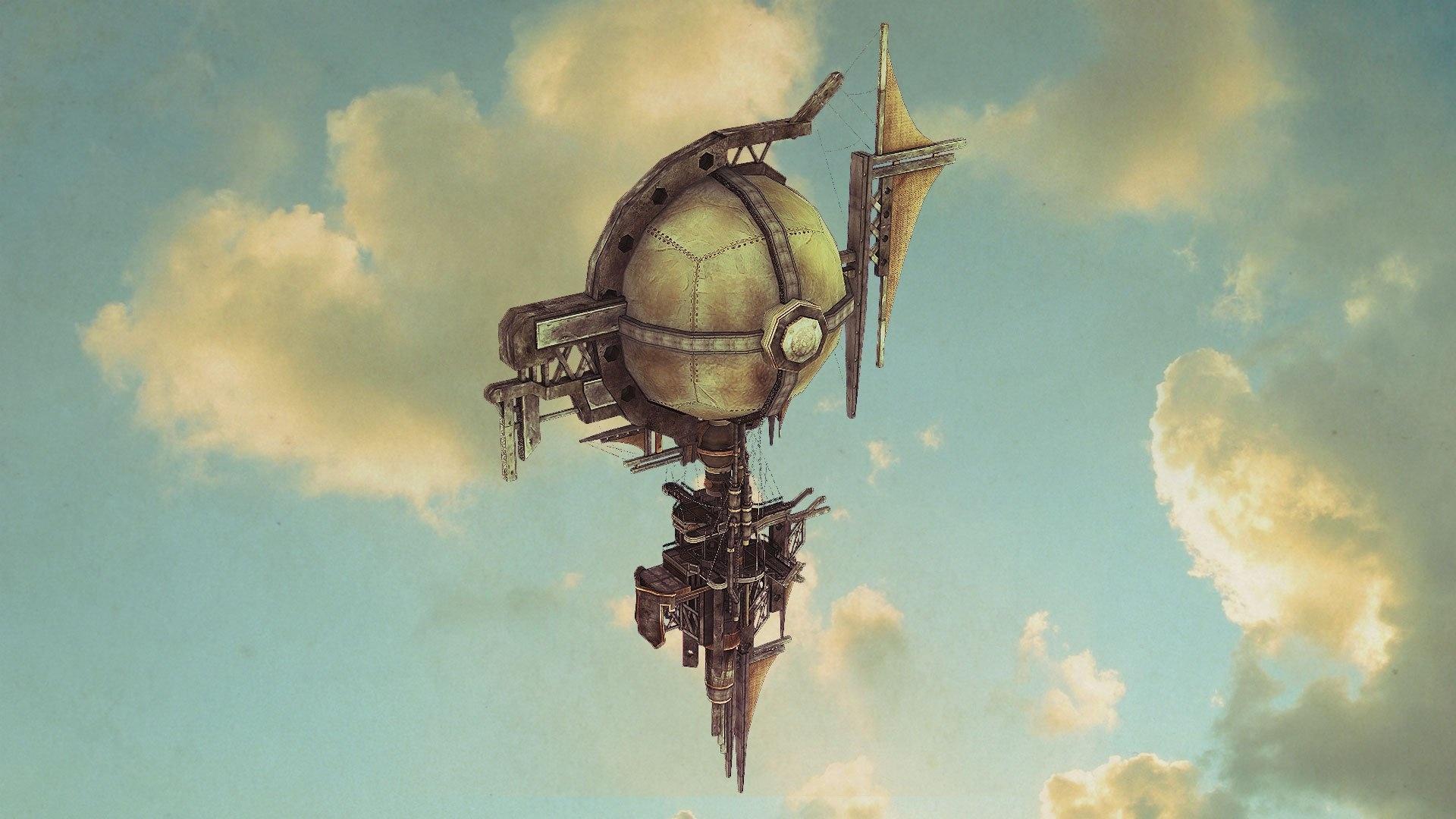 Airship Art desktop wallpaper hd