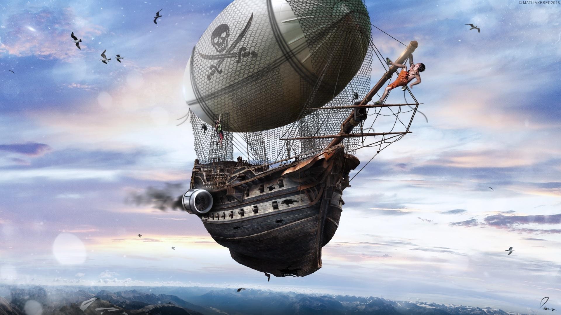 Airship Art Background