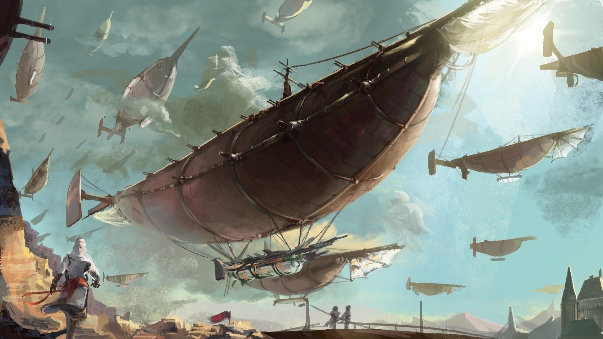 Airship Art wallpaper for desktop