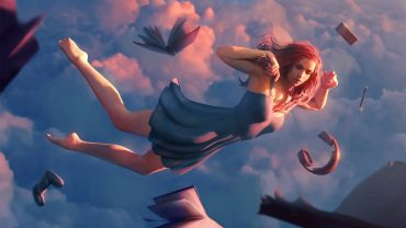 Flying Girl desktop wallpaper hd