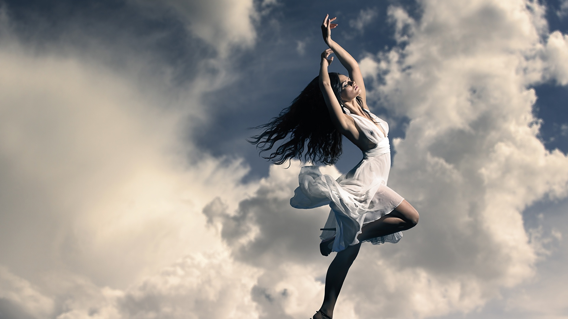 Flying Girl Background