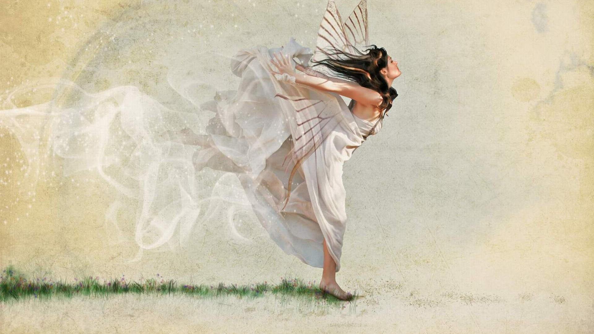 Flying Girl wallpaper photo hd