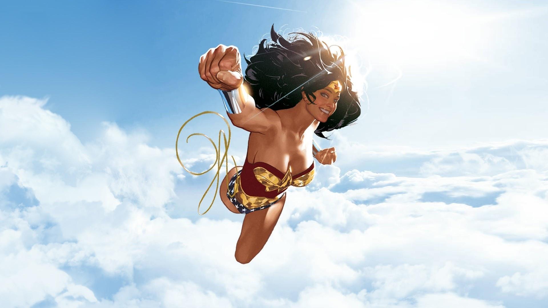 Flying Girl Wallpaper theme