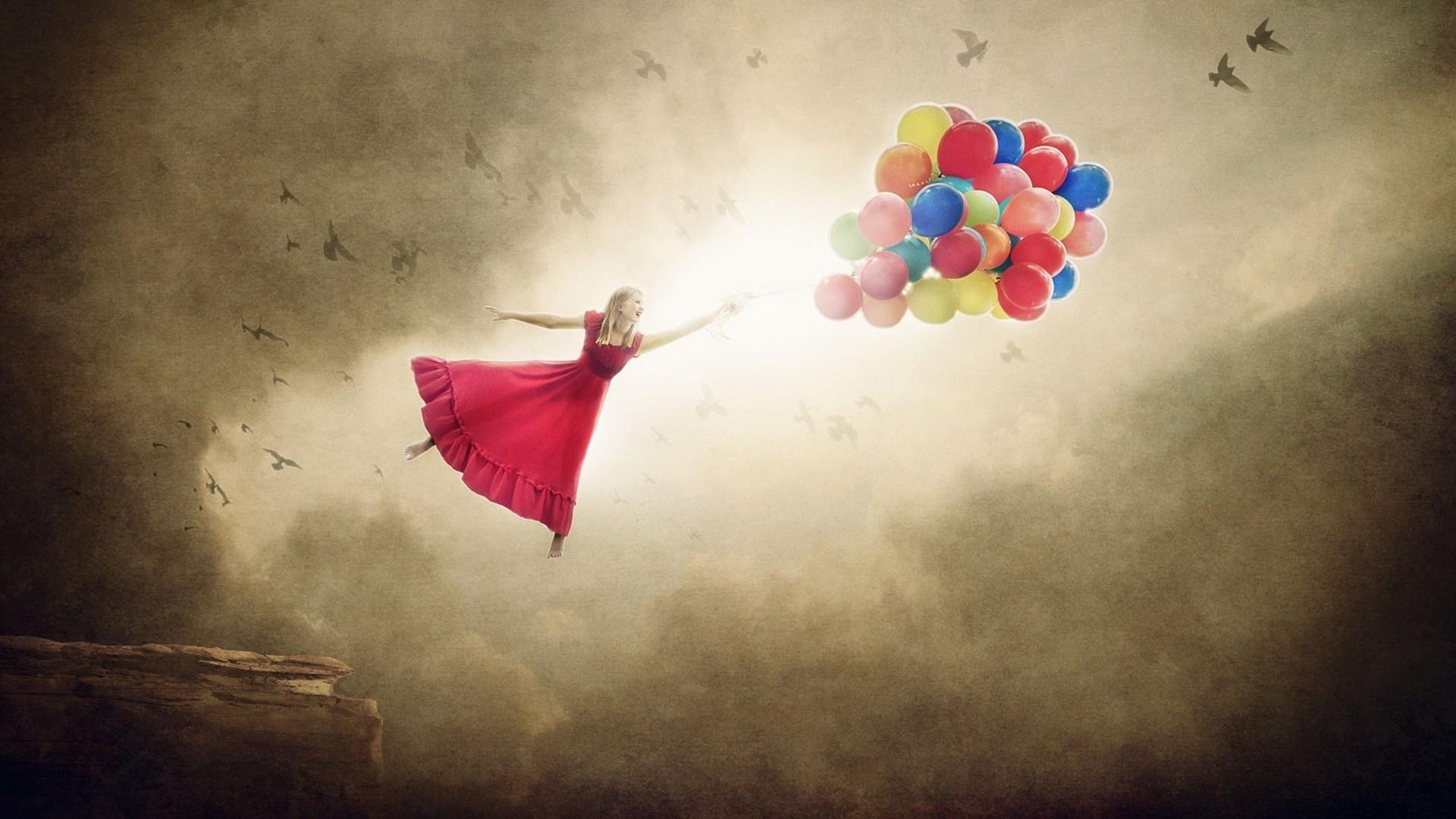 Flying Girl wallpaper for desktop