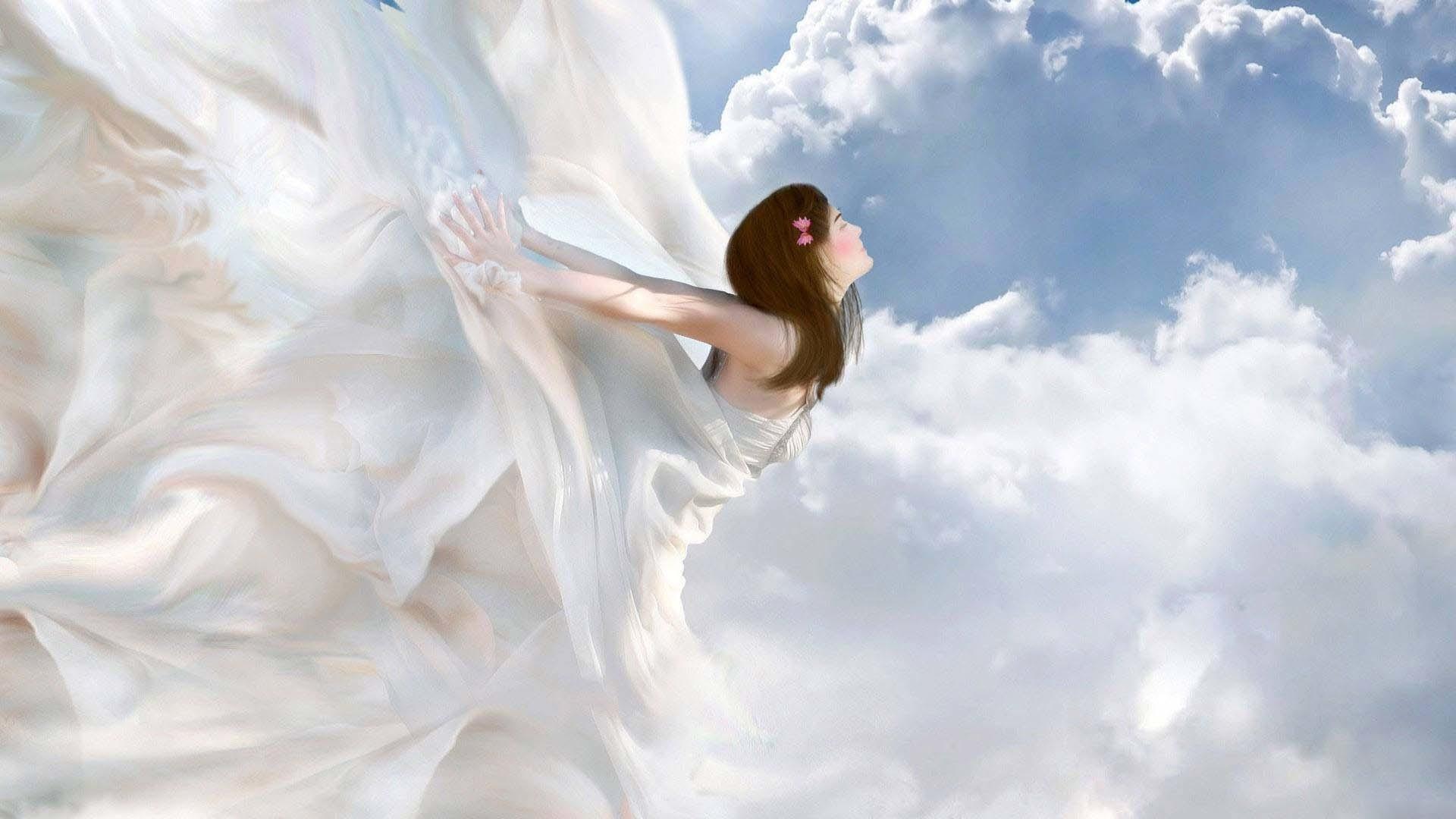 Flying Girl Image
