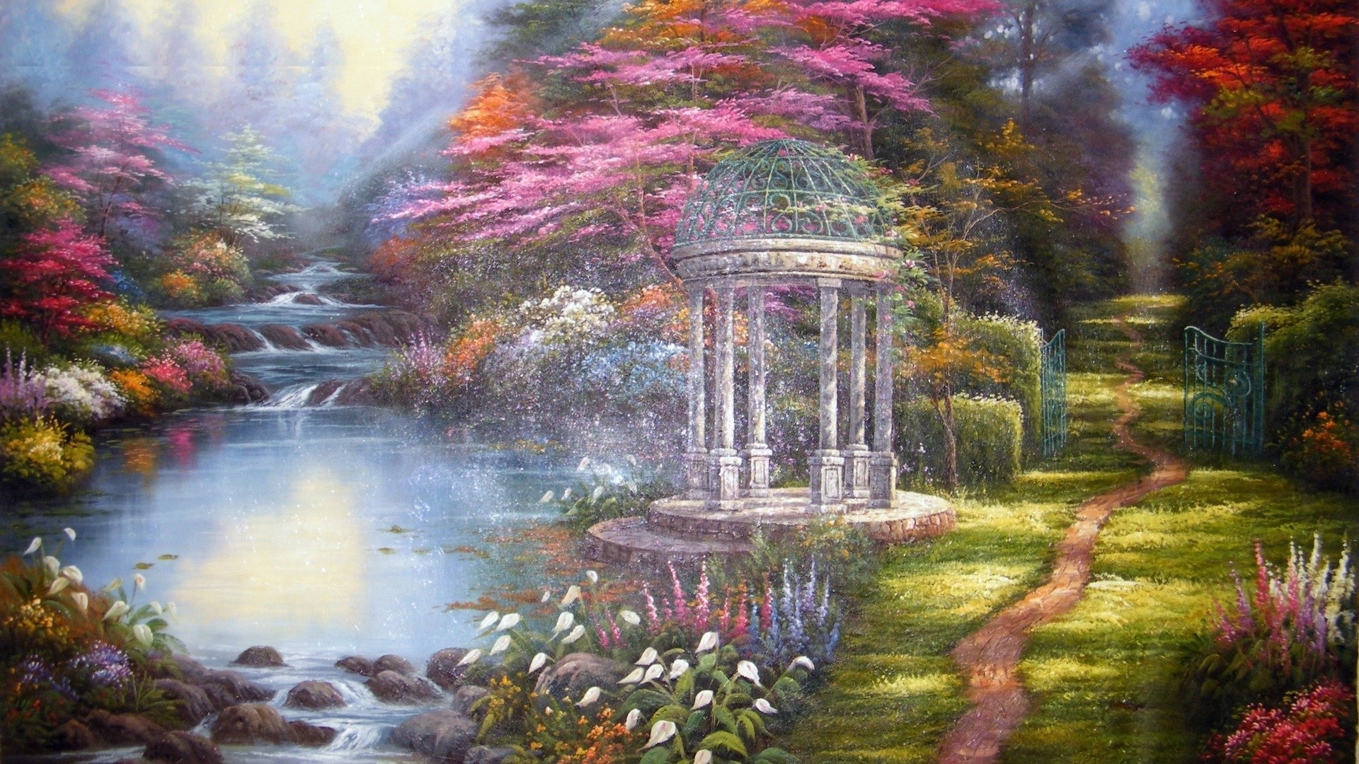 Garden Art Wallpaper