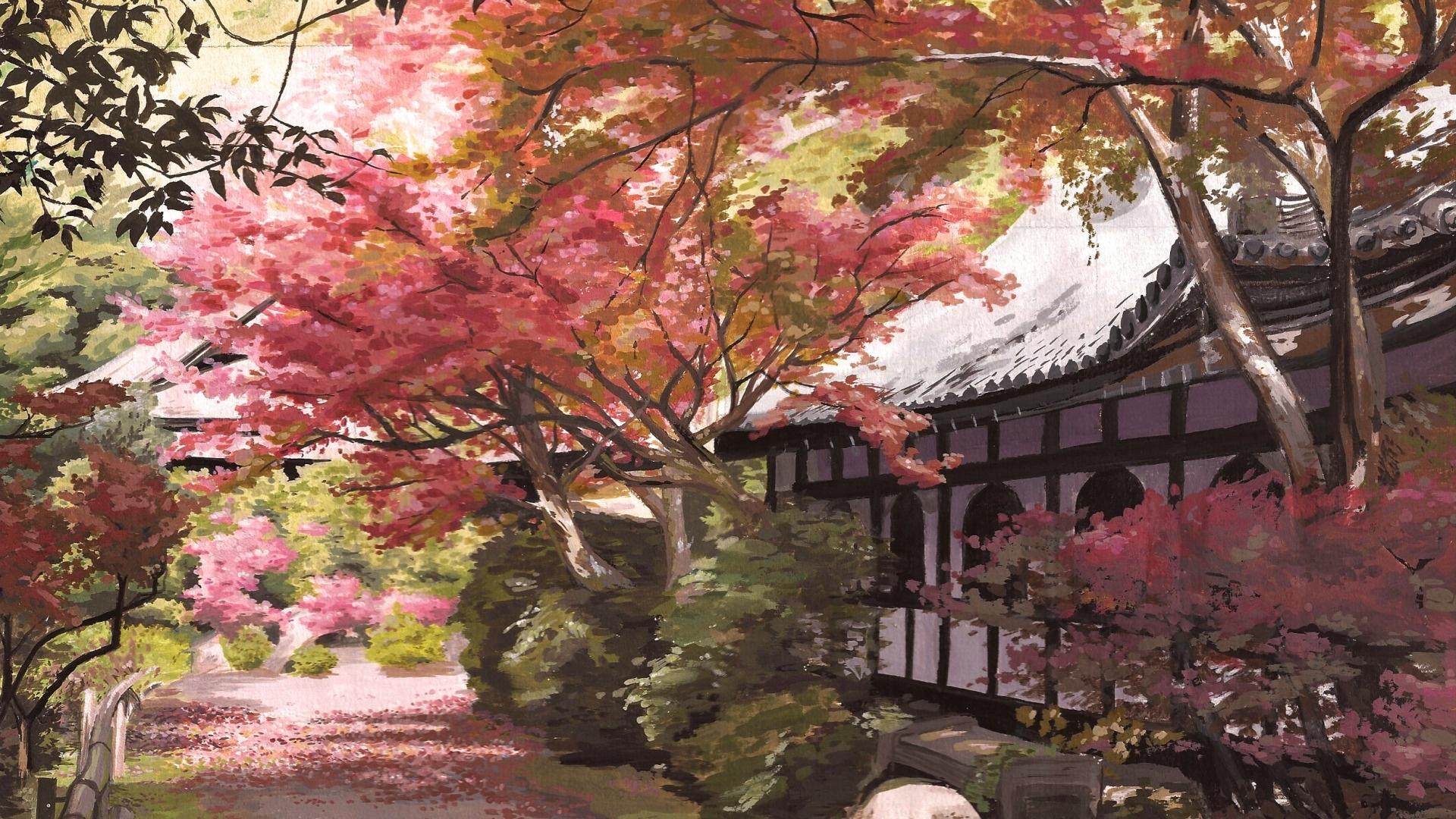 Garden Art Background