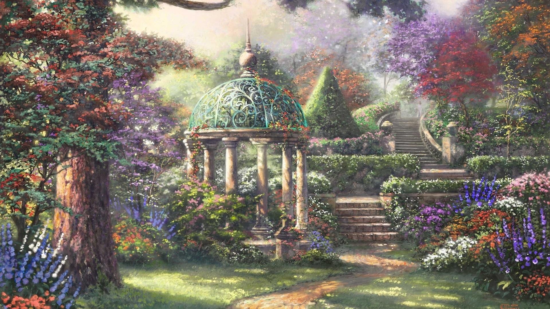 Garden Art Desktop Wallpaper