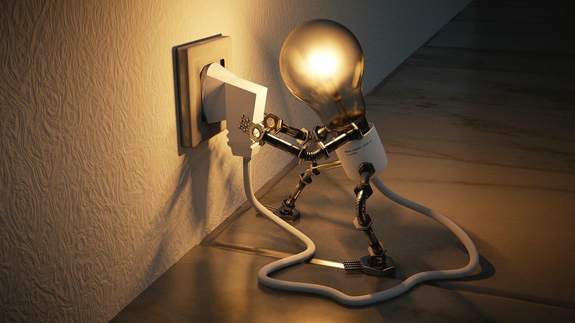 Light Bulb wallpaper for computer