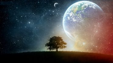 Tree And Space wallpaper for desktop