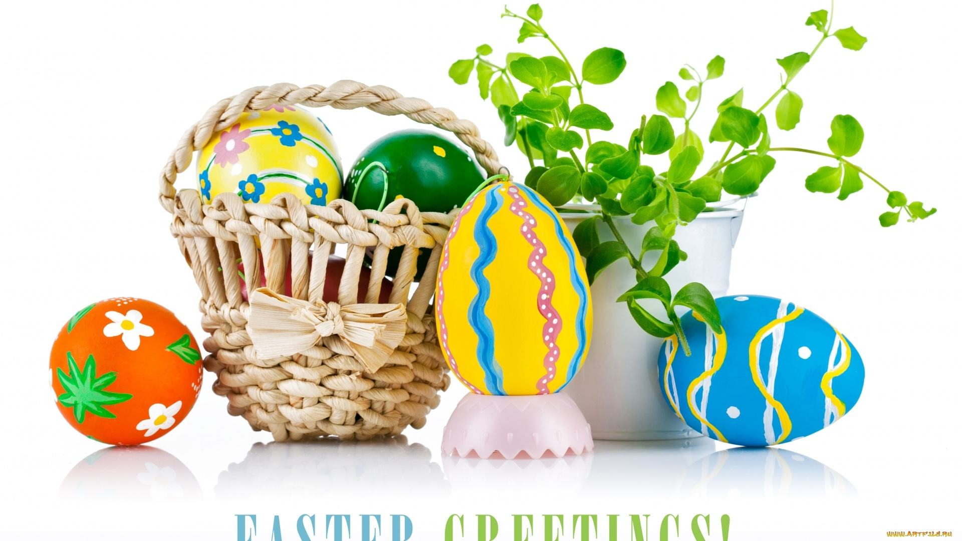 Easter Eggs In A Basket Picture
