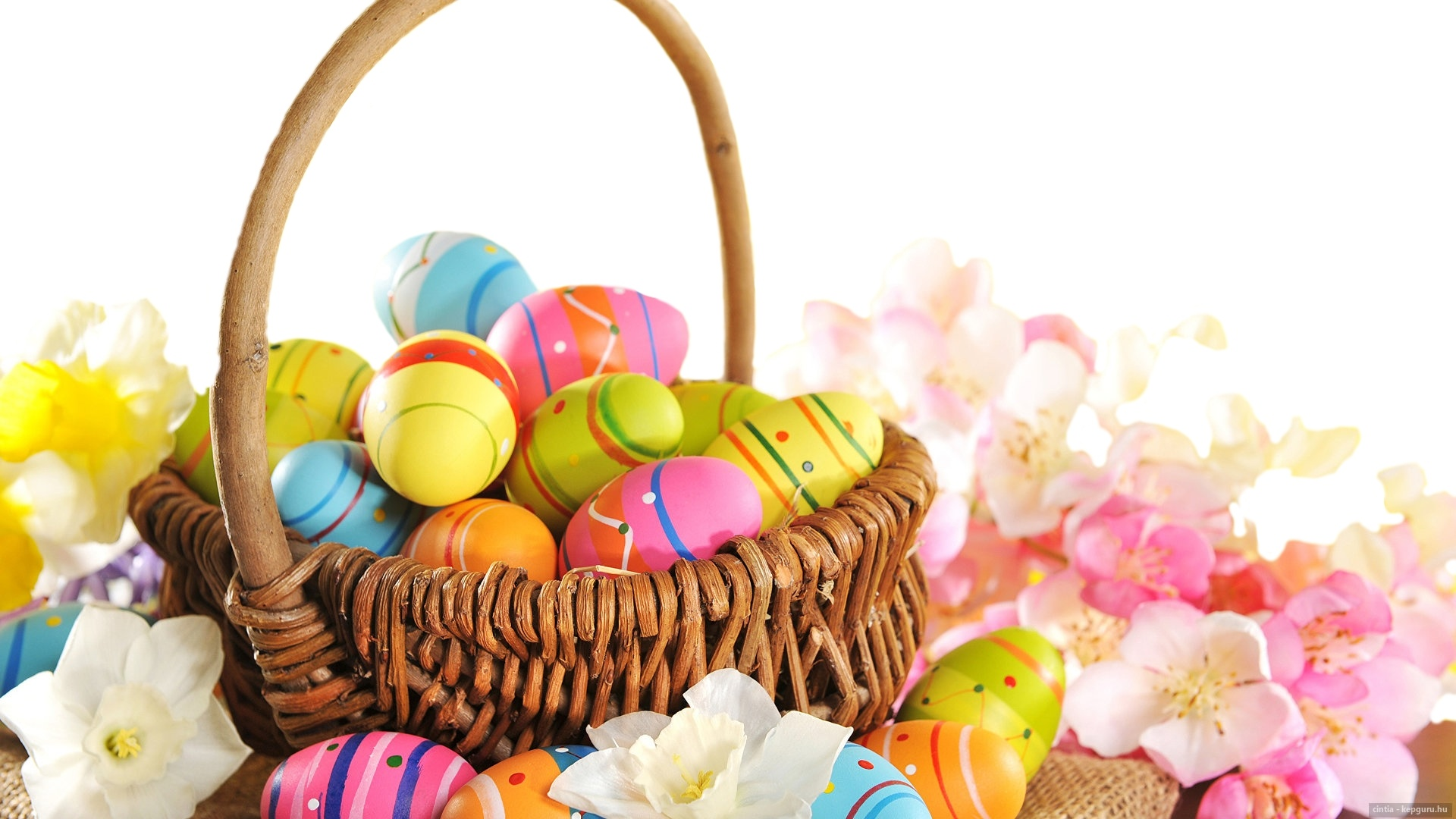 Easter Eggs In A Basket wallpaper for pc