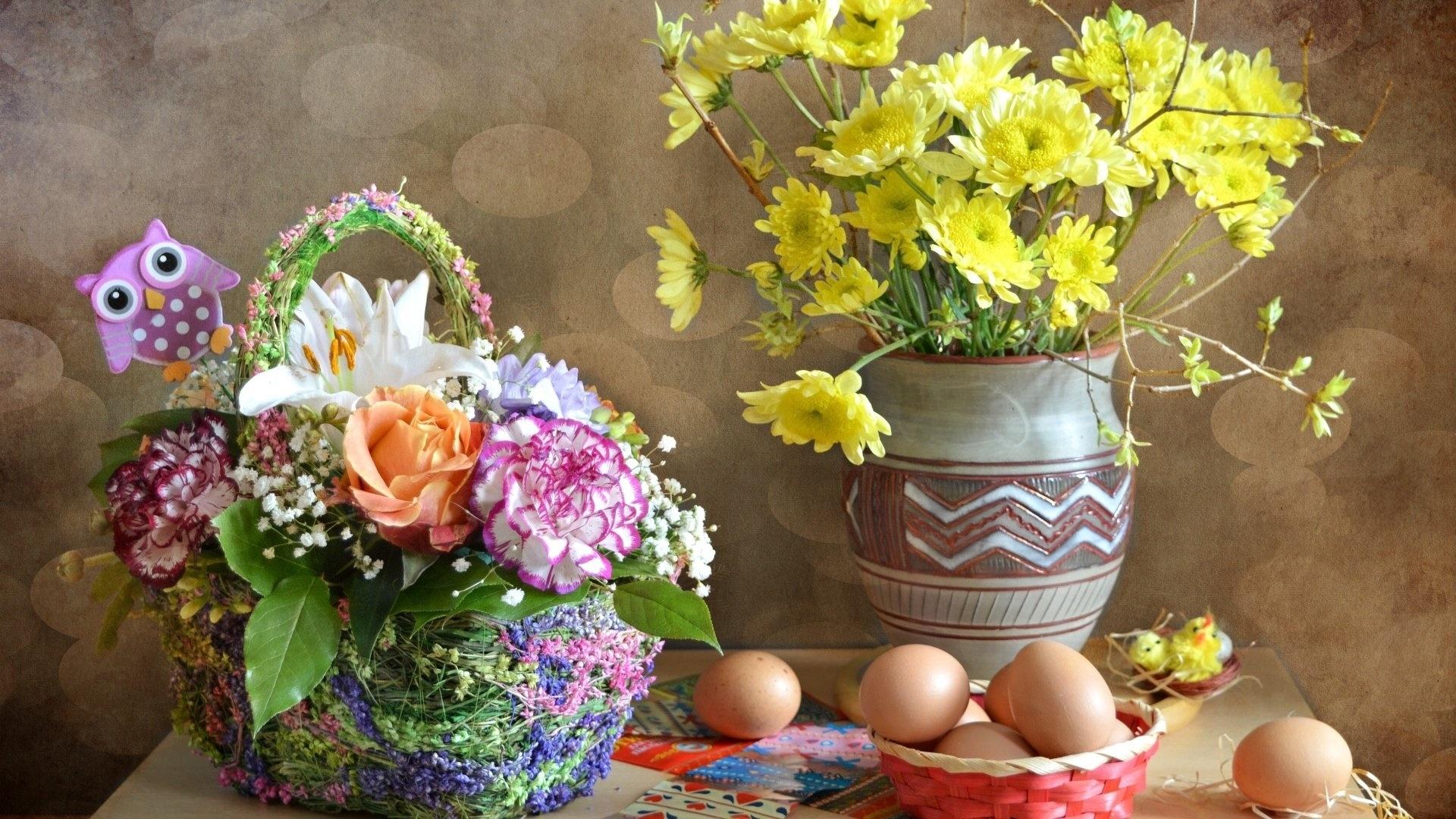 Easter Flowers wallpaper for pc
