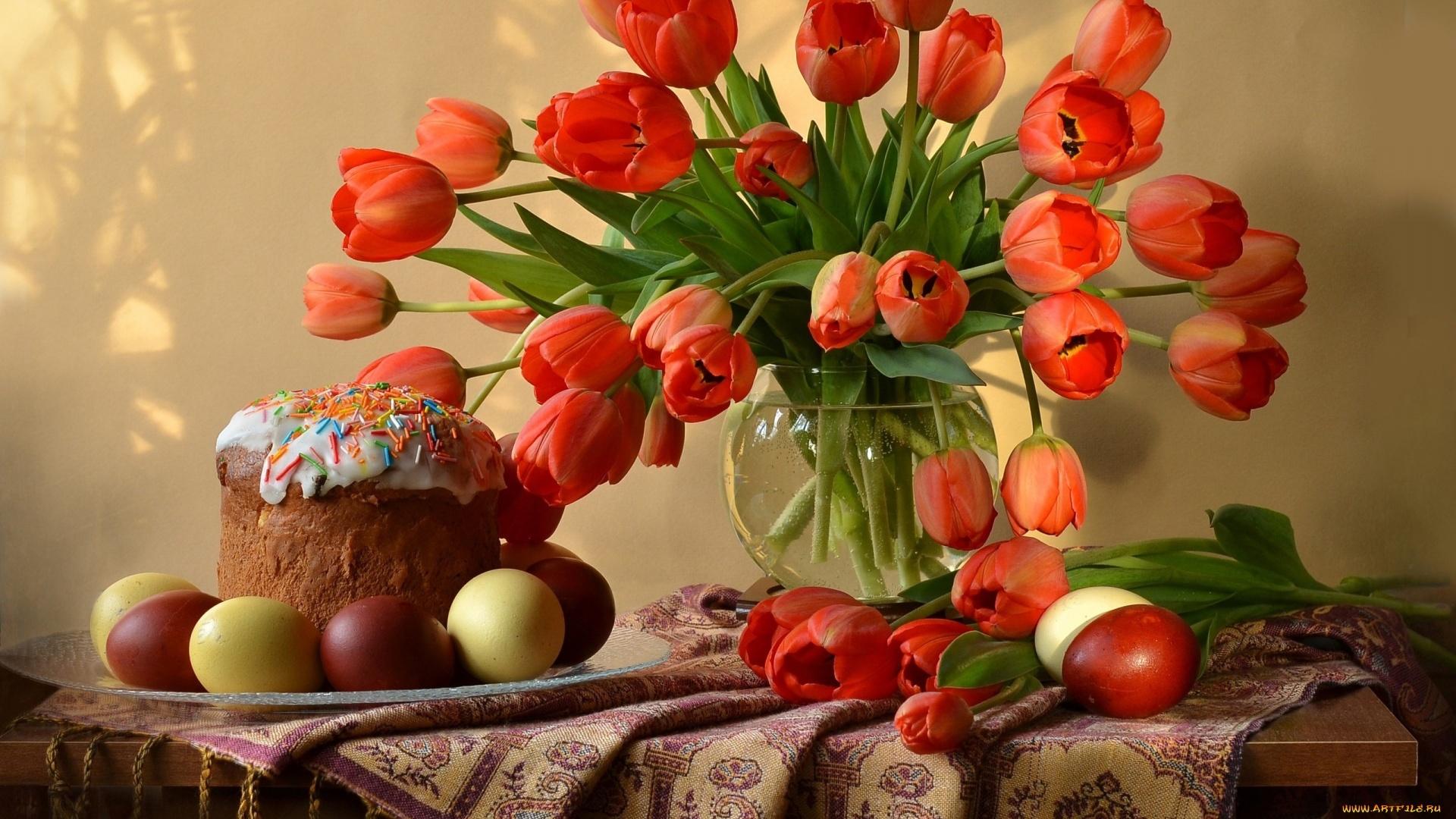 Easter Flowers Wallpaper theme