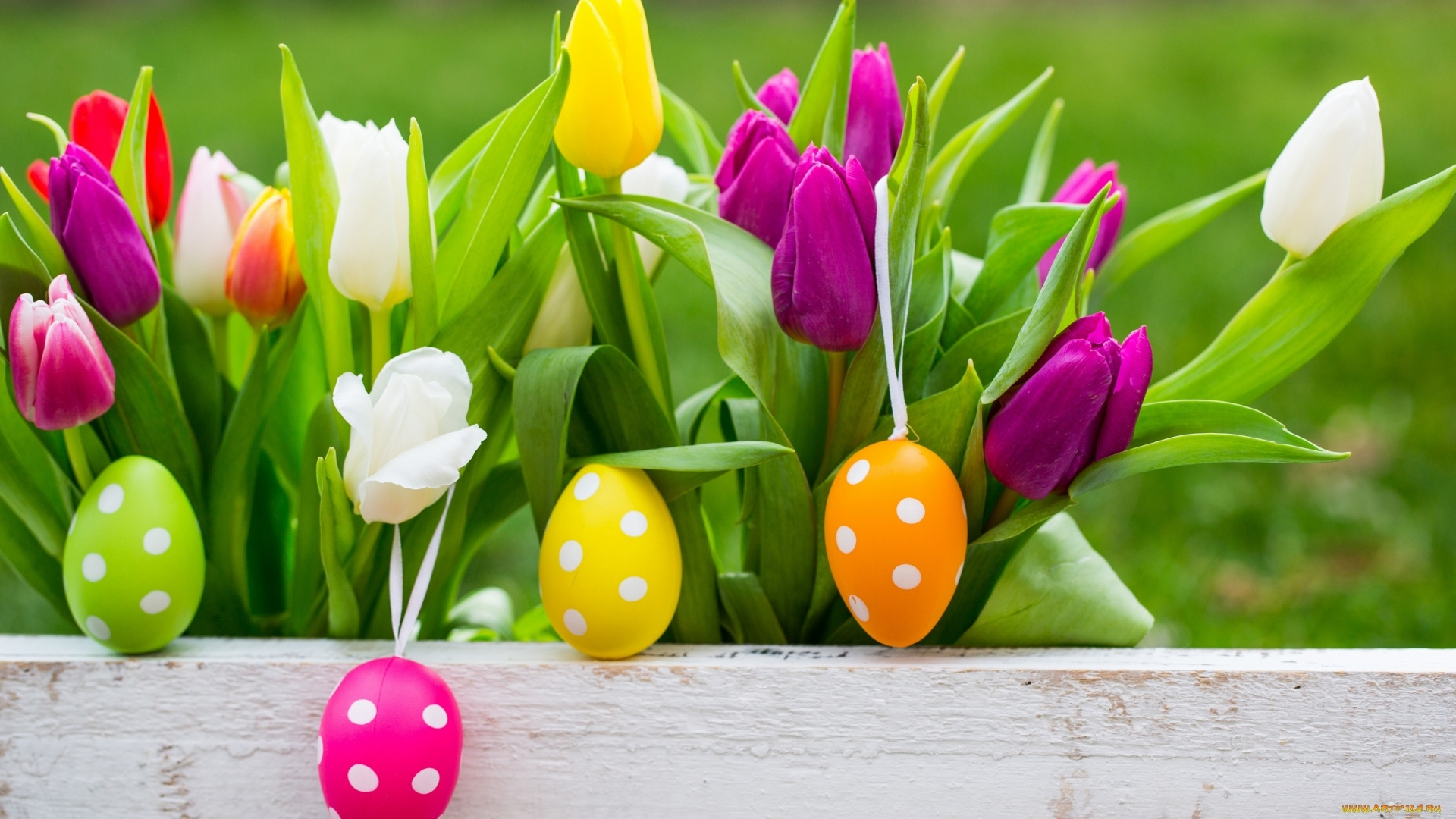 Easter Flowers Background