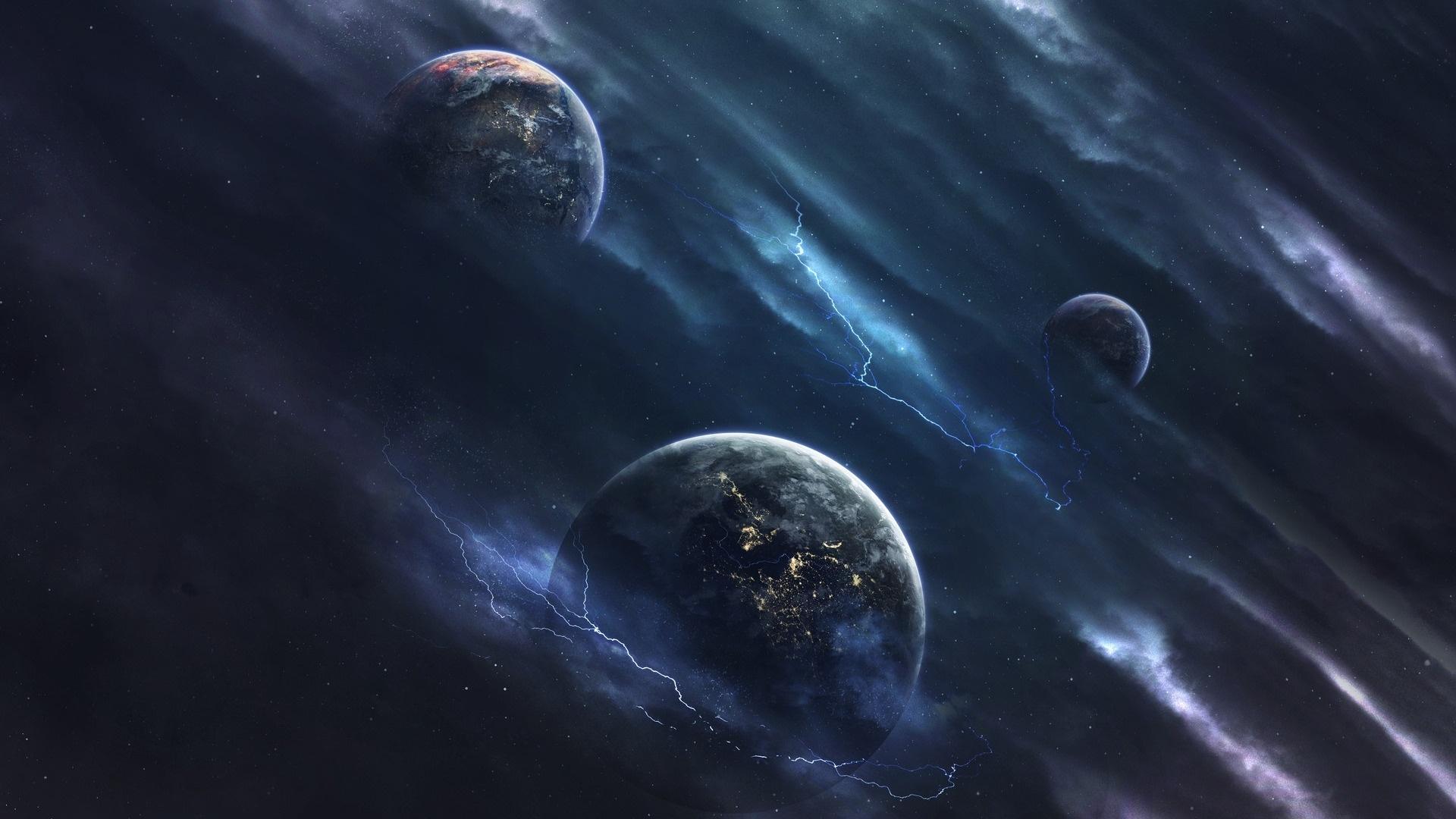 Alien Planet Art computer wallpaper