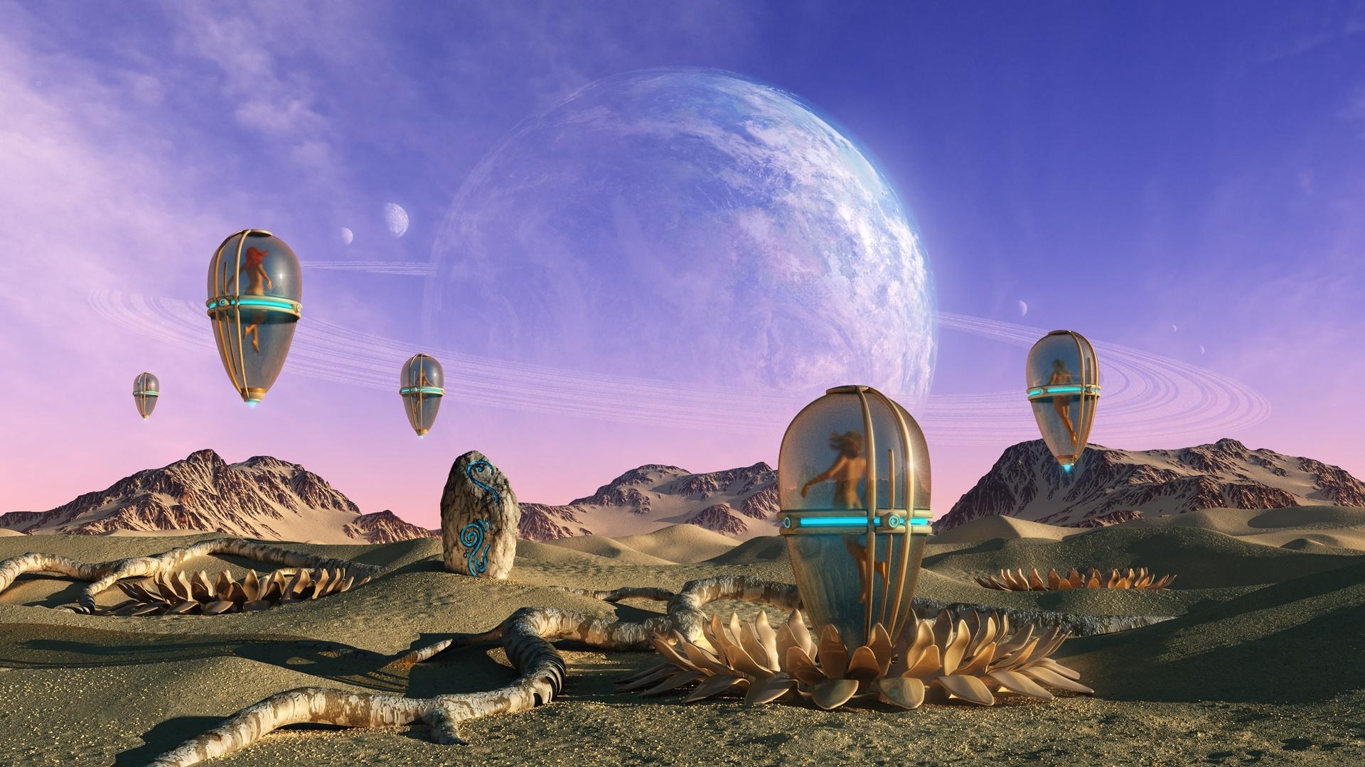 Alien Planet Art Desktop Wallpaper
